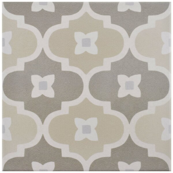 Grotta 7.88 x 7.88 Porcelain Field Tile in Beige/Taupe by EliteTile