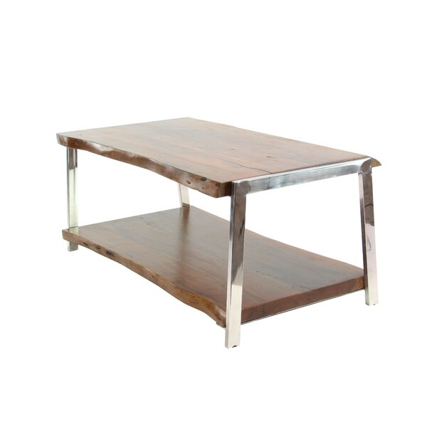Althea Rustic Coffee Table with Magazine Rack by Foundry Select