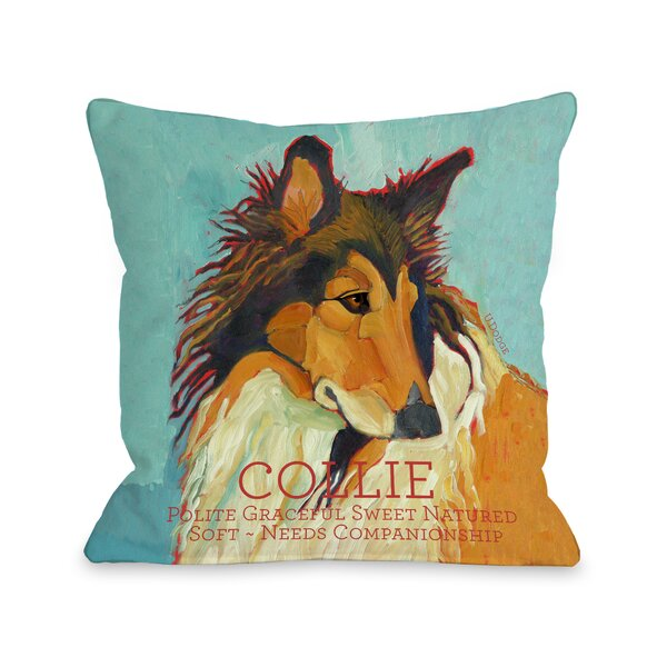 Doggy Décor Collie Throw Pillow by One Bella Casa