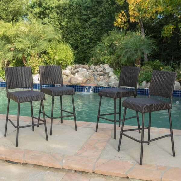 Eyman 29 Patio Bar Stool (Set of 4) by Brayden Studio