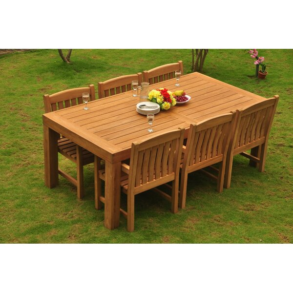 Grena Luxurious 7 Piece Teak Dining Set by Rosecliff Heights