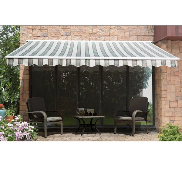 Perris Semi 14ft. W x 10 ft. D Retractable Patio Awning by Sunjoy