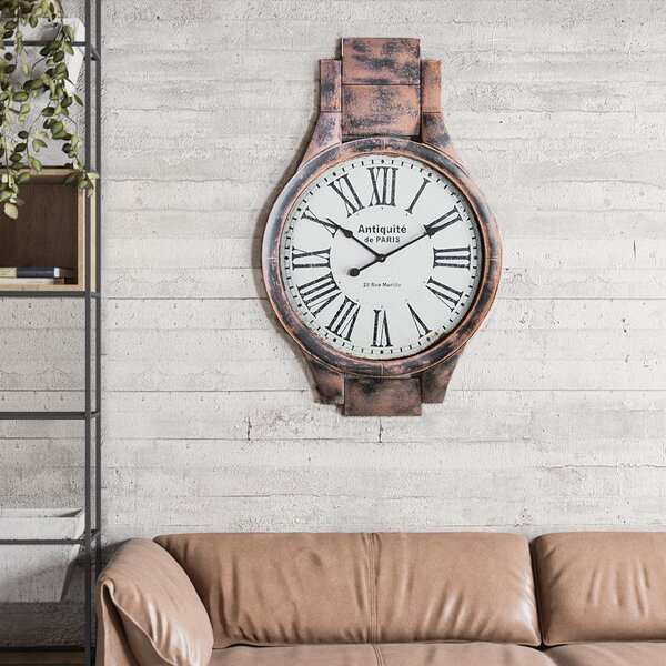 Oversized Carbonaro Antiquite Wall Clock by Red Barrel Studio