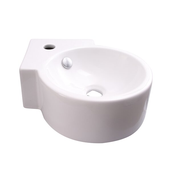 Dyer Vitreous China 13 Wall Mount Bathroom Sink with Overflow