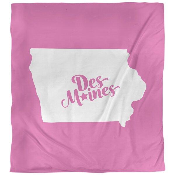 Des Moines Iowa Duvet Cover