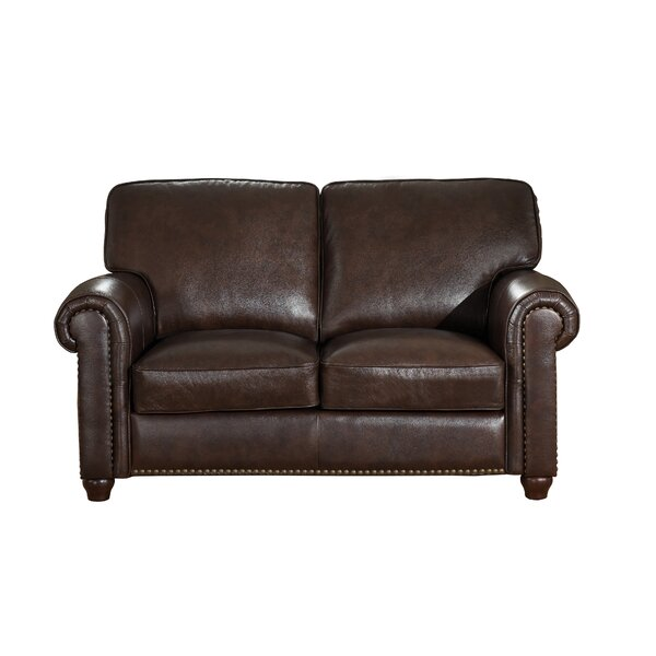 Kiaan Craft Leather Loveseat by Darby Home Co