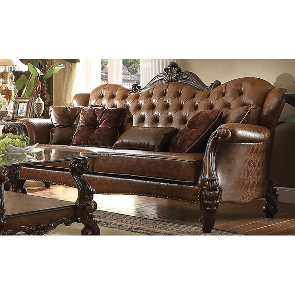 Meeks Standard Sofa with 5 Pillows by Astoria Grand