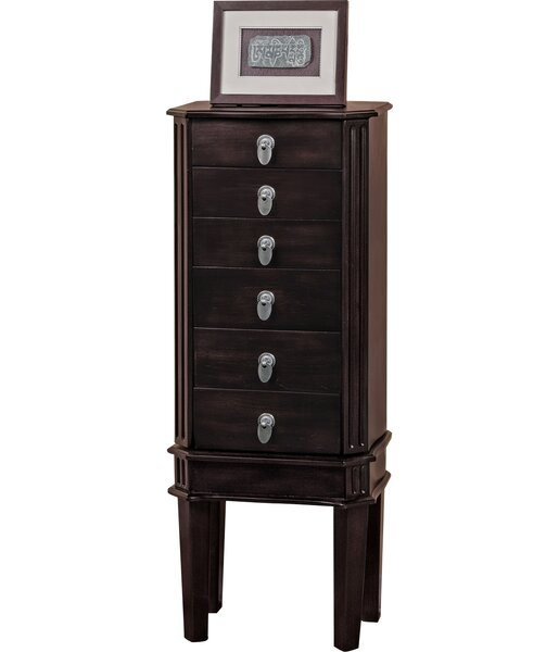 5 Drawer Jewelry Armoire with Flip Top Mirror by CTE Trading