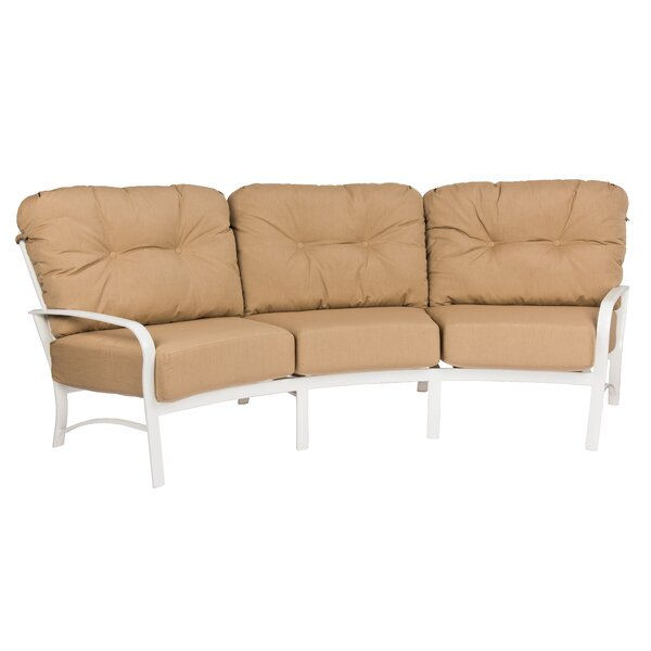 Fremont Crescent Patio Sofa with Cushions by Woodard