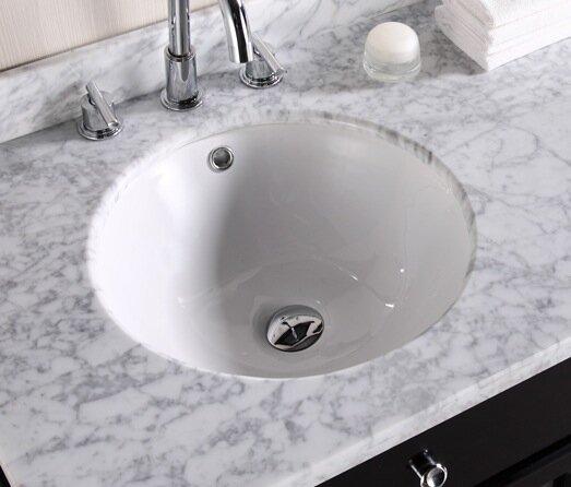 Ceramic Circular Undermount Bathroom Sink with Overflow by Royal Purple Bath Kitchen