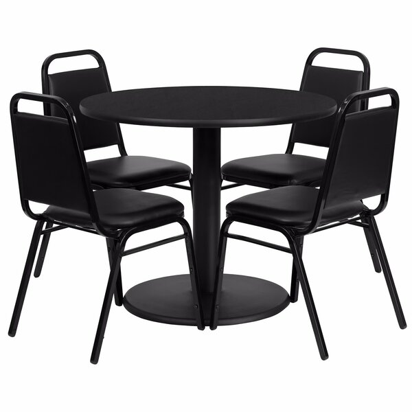 Girault Round Laminate 5 Piece Dining Set by Ebern Designs