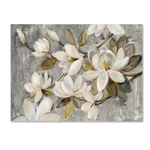 'Magnolia Simplicity Neutral Gray' Print on Wrapped Canvas by Trademark Fine Art