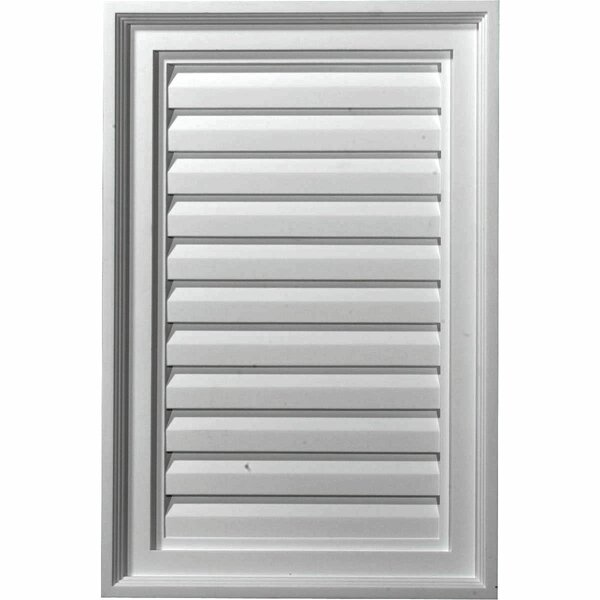 20H x 16W Vertical Gable Vent Louver by Ekena Millwork