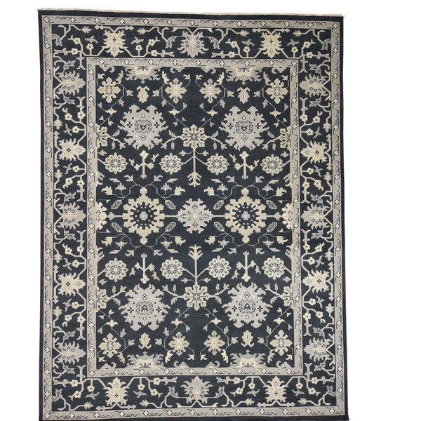 One-of-a-Kind Organ Hand-Knotted Black Area Rug by One Allium Way