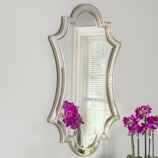 Willa Arlo Interiors Ellison Lightly Antiqued Silver Wall Mirror