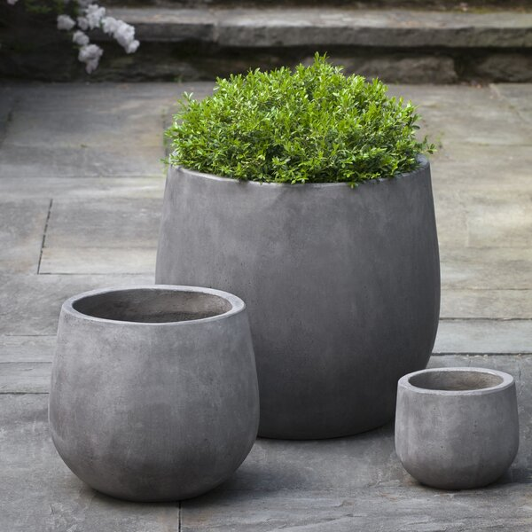 Urban 3-Piece Composite Pot Planter Set by Campania International