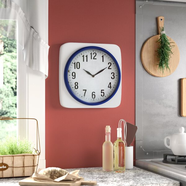 Chacra Square Metal Wall Clock by Laurel Foundry Modern Farmhouse