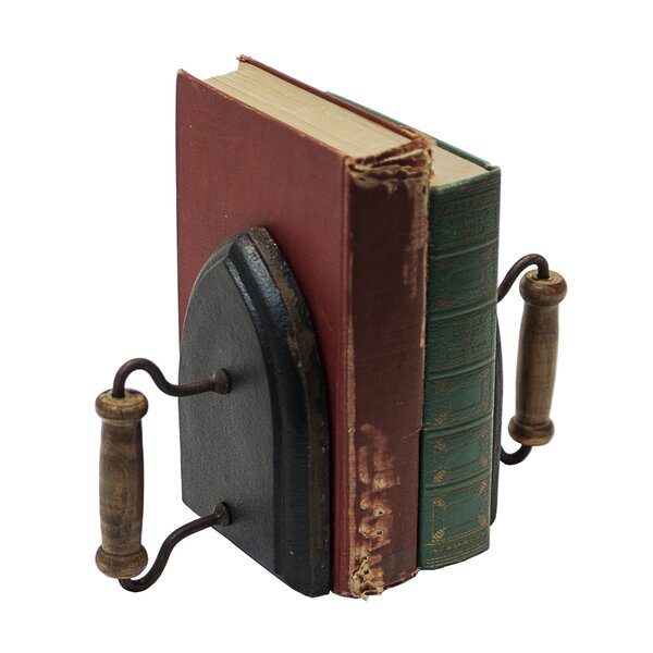 Iron Bookends (Set of 2) by Gracie Oaks