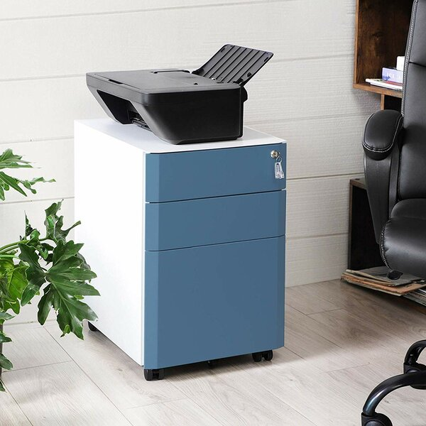 Bruse 3-Drawer Mobile Vertical Filing Cabinet