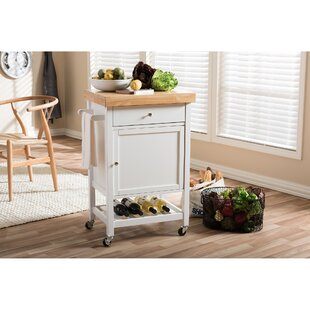 Ingalls Kitchen Cart with Wood Top by Winston Porter
