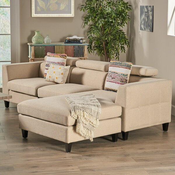Lundberg Right Hand Facing Modern Deep Seated Chaise Modular Sectional By Ivy Bronx