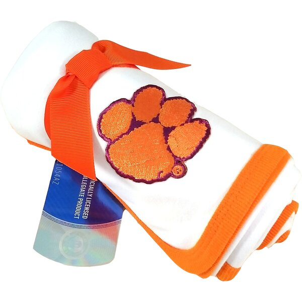 Clemson Tigers Baby Receiving Blanket by Future Tailgater