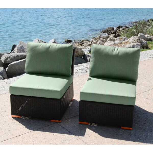 Marcelo Armless/Slipper Chair with Cushions (Set of 2) by Bellini Home and Garden