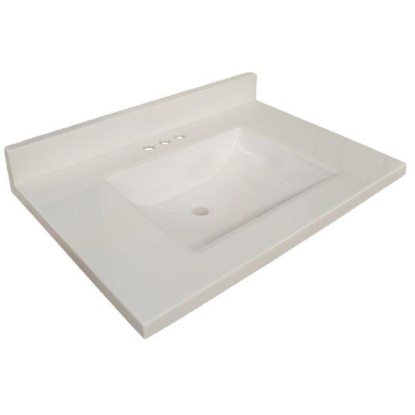 Wave Cultured Marble 37 Single Bathroom Vanity Top by Design House