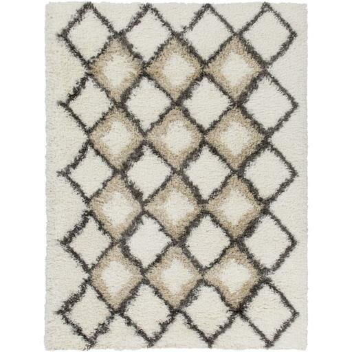 Hauser Ivory/Brown Area Rug by Bungalow Rose