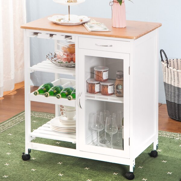 Compton Trolley Island Rolling on Wheel Kitchen Cart by Ebern Designs
