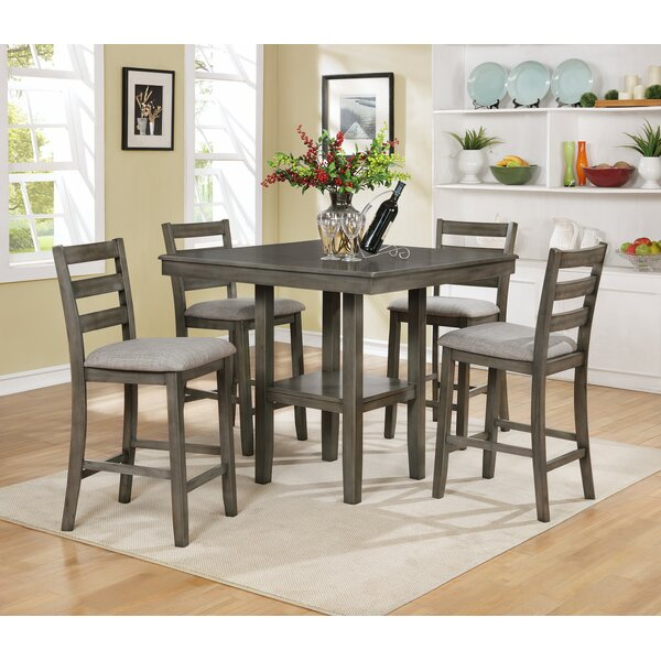 Gorlest 5 Piece Pub Table Set by Darby Home Co