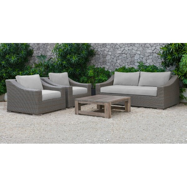 Sinclair Palisades 4 Piece Sofa Set with Cushions by Rosecliff Heights