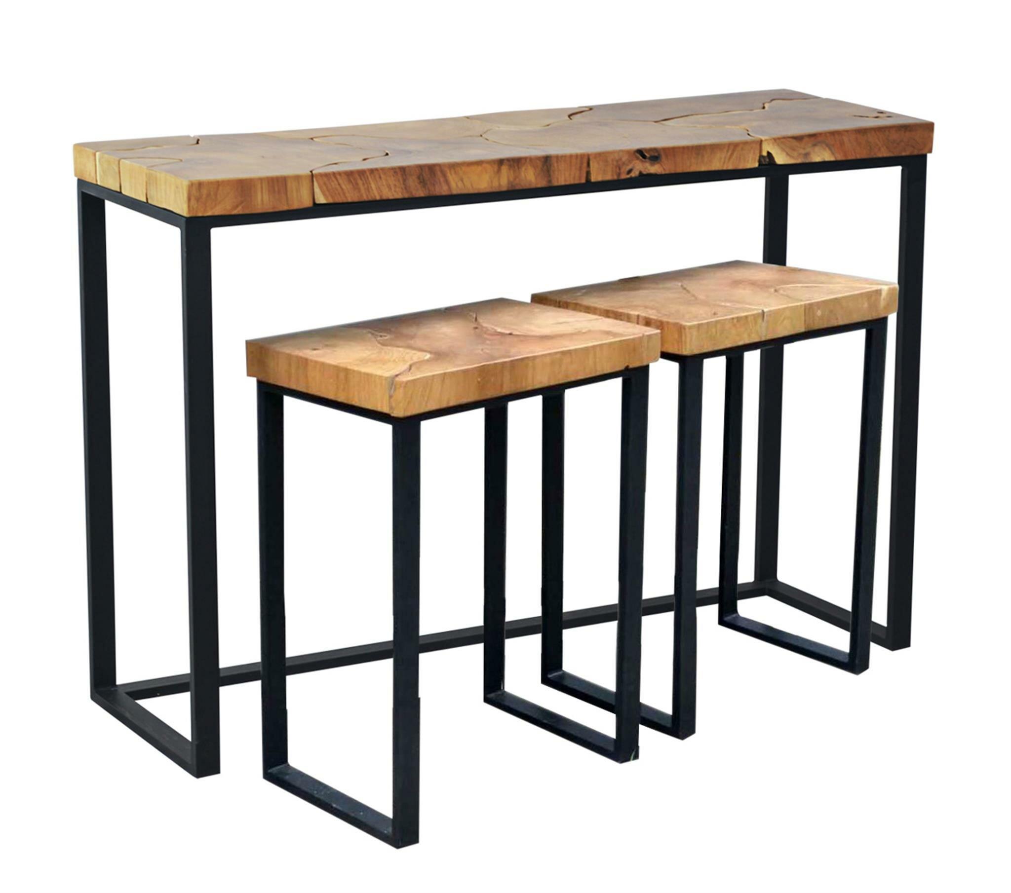 Brayden Studio Hoekstra Console Table and Stool Set | Wayfair