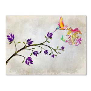 'Hummingbird of Paradise' Graphic Art Print on Wrapped Canvas by Ebern Designs