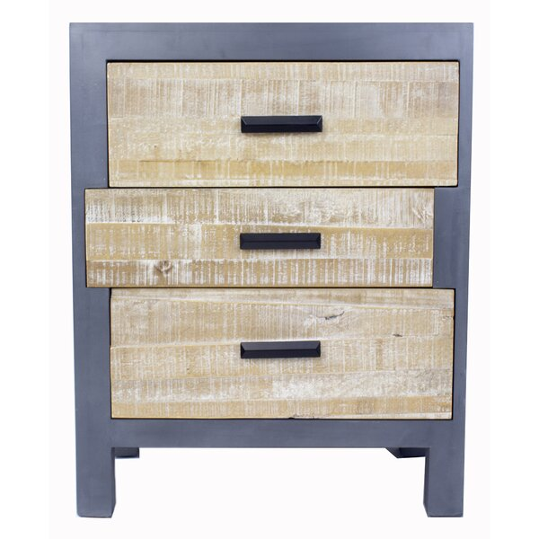 Flavia 3 Drawer Accent Chest by Union Rustic