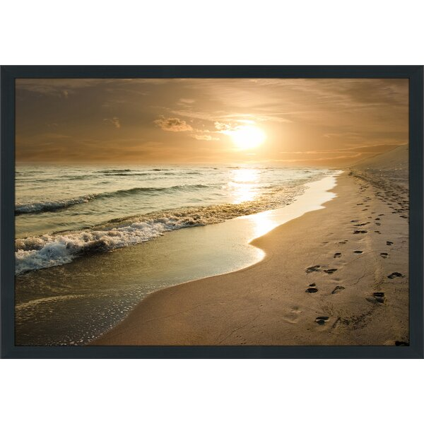 Footprints Framed Photographic Print by Picture Perfect International