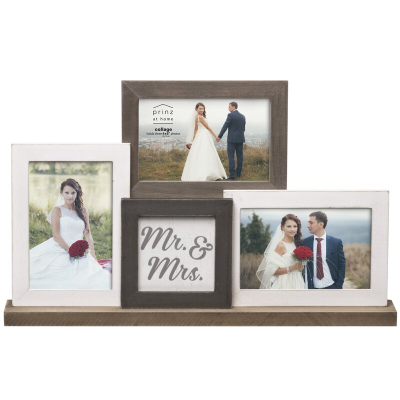 mr mrs wedding mantel collage picture frame - Mr And Mrs Photo Frame