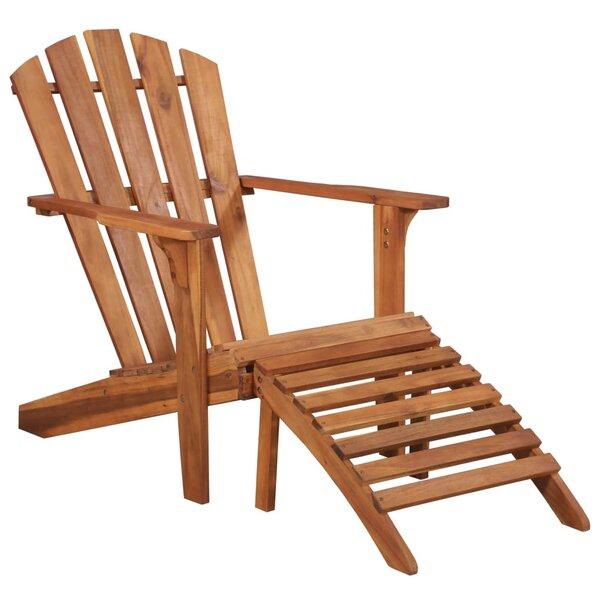 Felten Solid Wood Adirondack Chair by Highland Dunes Highland Dunes