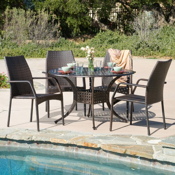 Tucci 5 Piece Dining Set by Highland Dunes