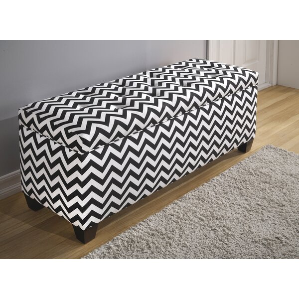 Peyser 10 Button Upholstered Storage Bench by Latitude Run