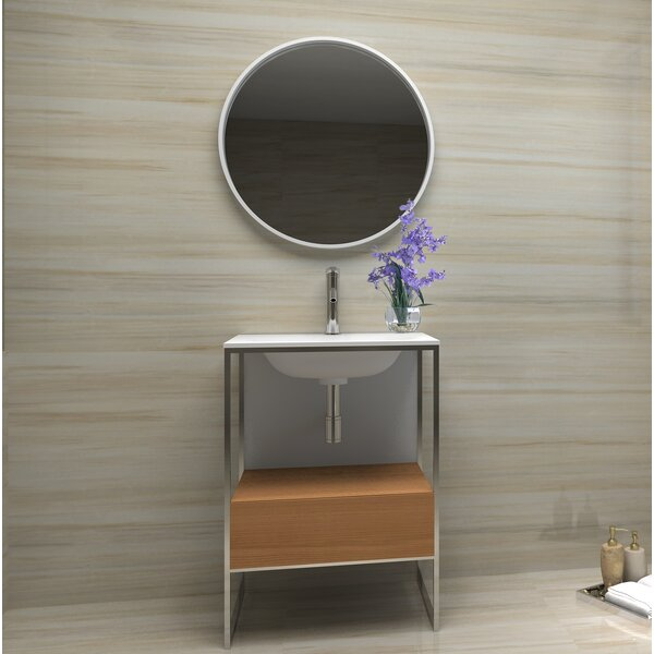 Wilford 24 Wall-Mounted Single Bathroom Vanity Set with Mirror by Brayden Studio