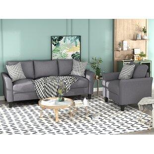 Cirrus 2 Piece Standard Living Room Set by Red Barrel Studio®