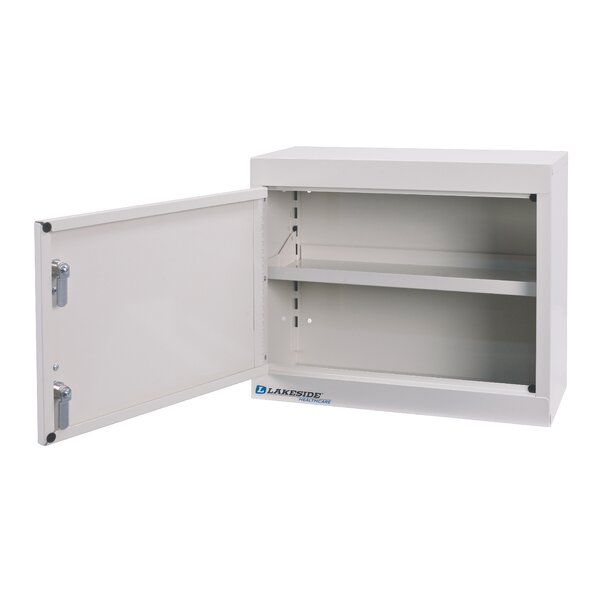 18 W x 15 H x 8 D Metal Wall Mounted Cabinet