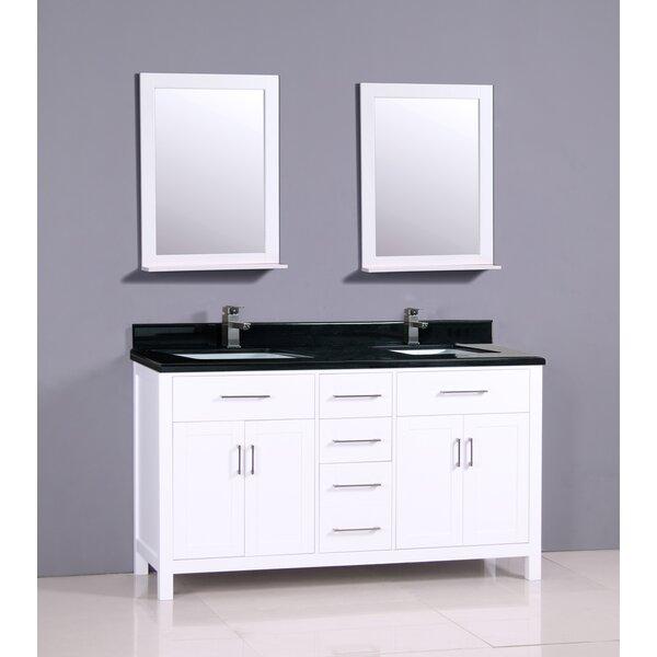 Flannery 61 Double Bathroom Vanity Set by Ebern Designs