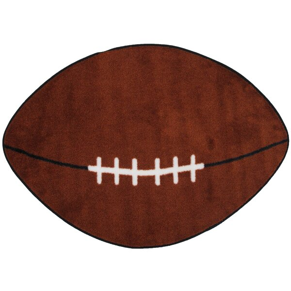 Fun Shape Football Sports Area Rug by Fun Rugs