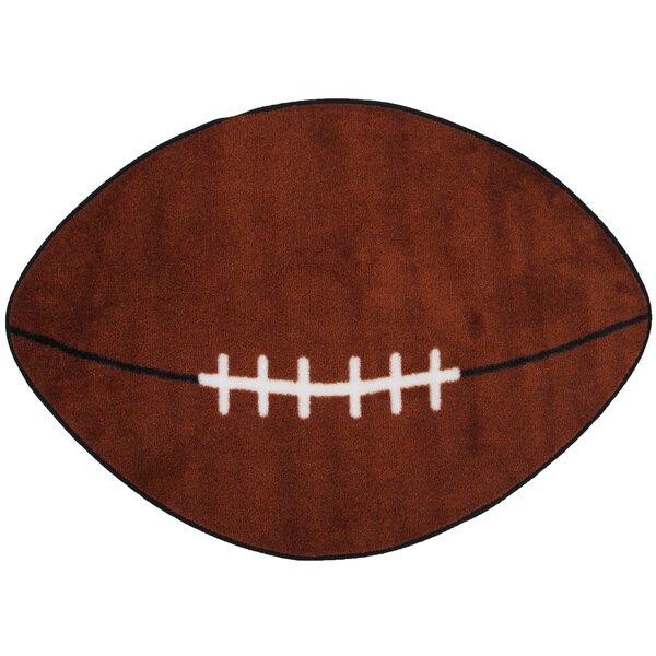 Fun Shape Football Sports Area Rug by Fun Rugs