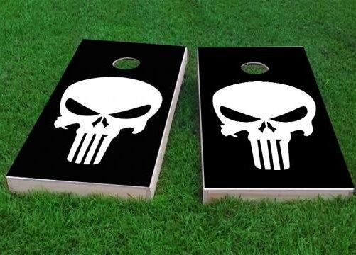 Punisher Skull Cornhole Game (Set of 2) by Custom Cornhole Boards