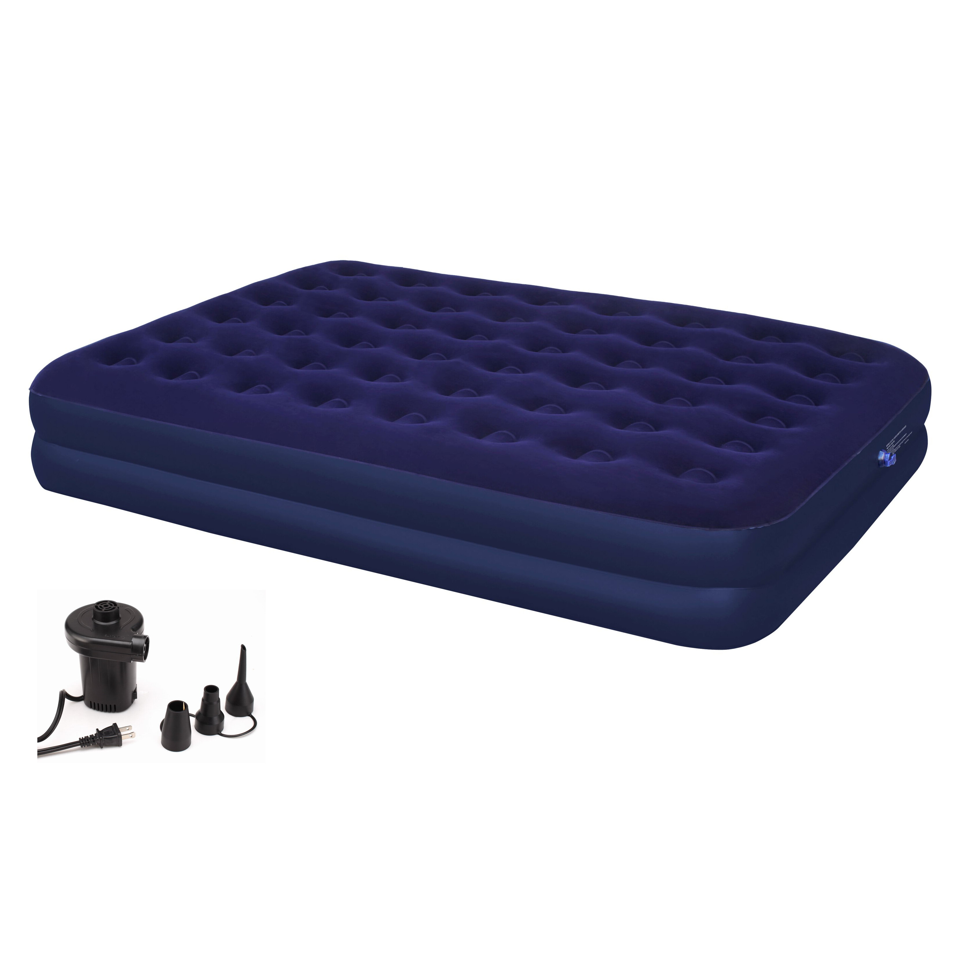 insta raised best pump instabed images flat with headboard of bed air mattress queen never awesome neverflat