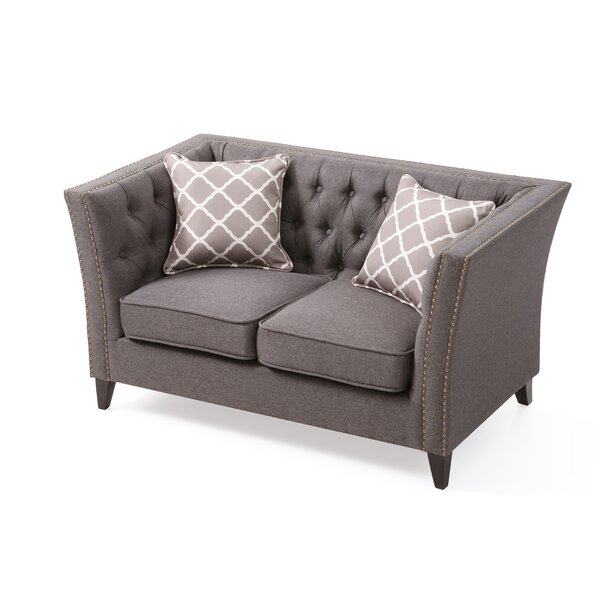 Mcgee Chesterfield Loveseat by Canora Grey