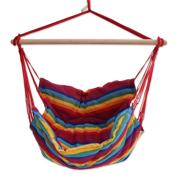 Ramsey Jungle Rainbow Cotton Swing Hammock by Bloomsbury Market
